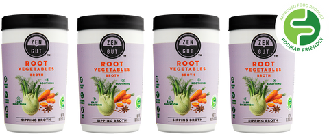ZenGut Low FODMAP Certified Soup (Root Vegetable Broth), 4 pack - No Onion No Garlic, Gut Friendly-soup-casa de sante