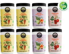 ZenGut Low FODMAP Certified Soup, Variety, 8 pack - No Onion No Garlic, Gut Friendly Low FODMAP IBS