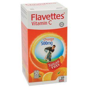 Flavettes Vitamin C 500mg Sugar Free Tablet Orange - DoctorOnCall