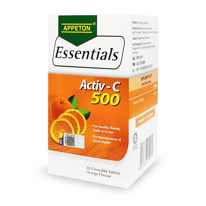 Appeton Essentials Activ - C 500mg Tablet Orange - DoctorOnCall