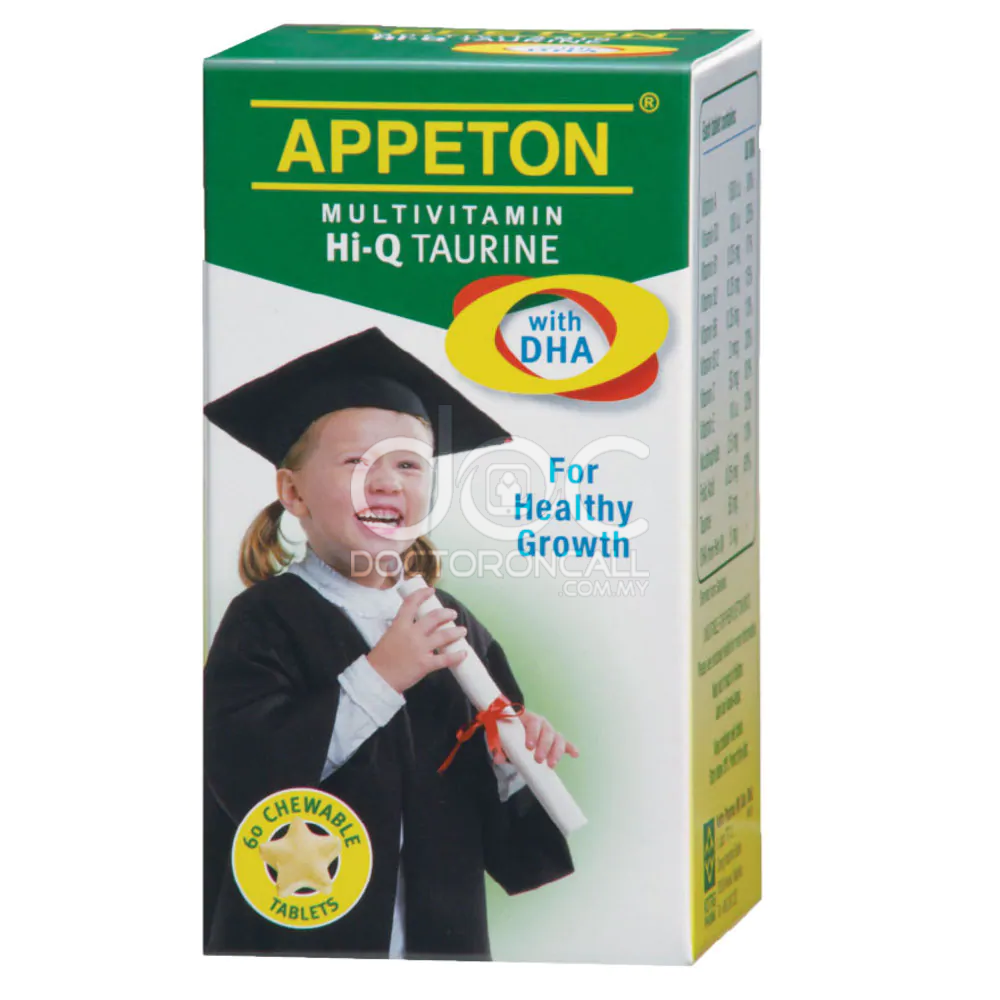 Appeton Multivitamin Hi-Q Taurine with DHA Tablet - DoctorOnCall