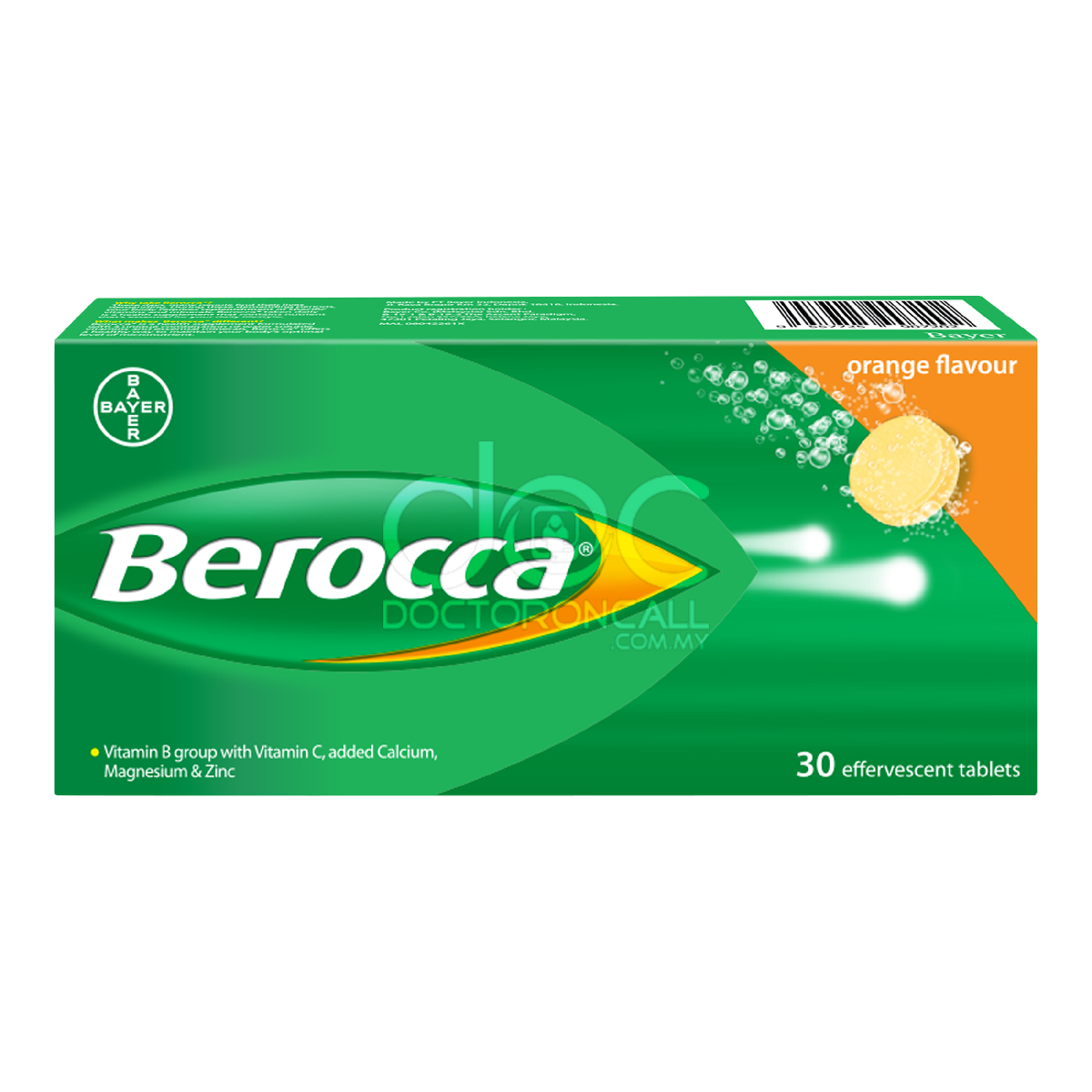 Berocca Effervescent Tablet (Orange) - DoctorOnCall
