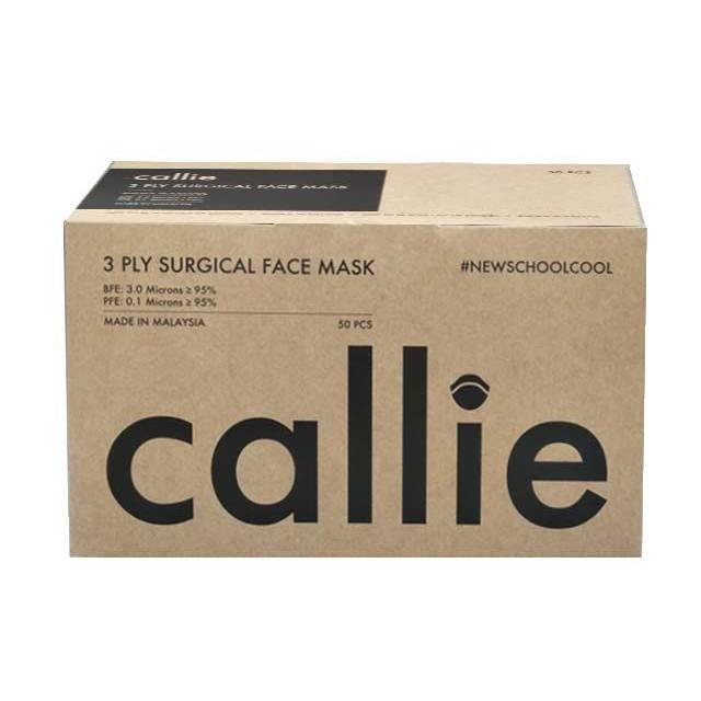 Callie AD 3Ply Surgical Face Mask Black 50s - DoctorOnCall
