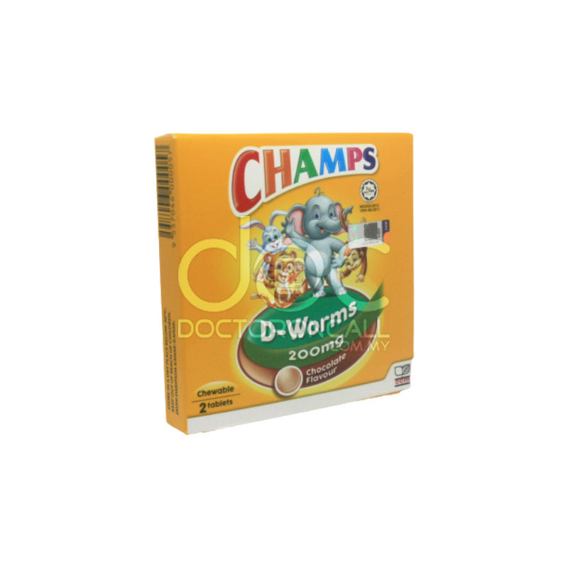 Champs D-Worms 6 Chocolate - DoctorOnCall