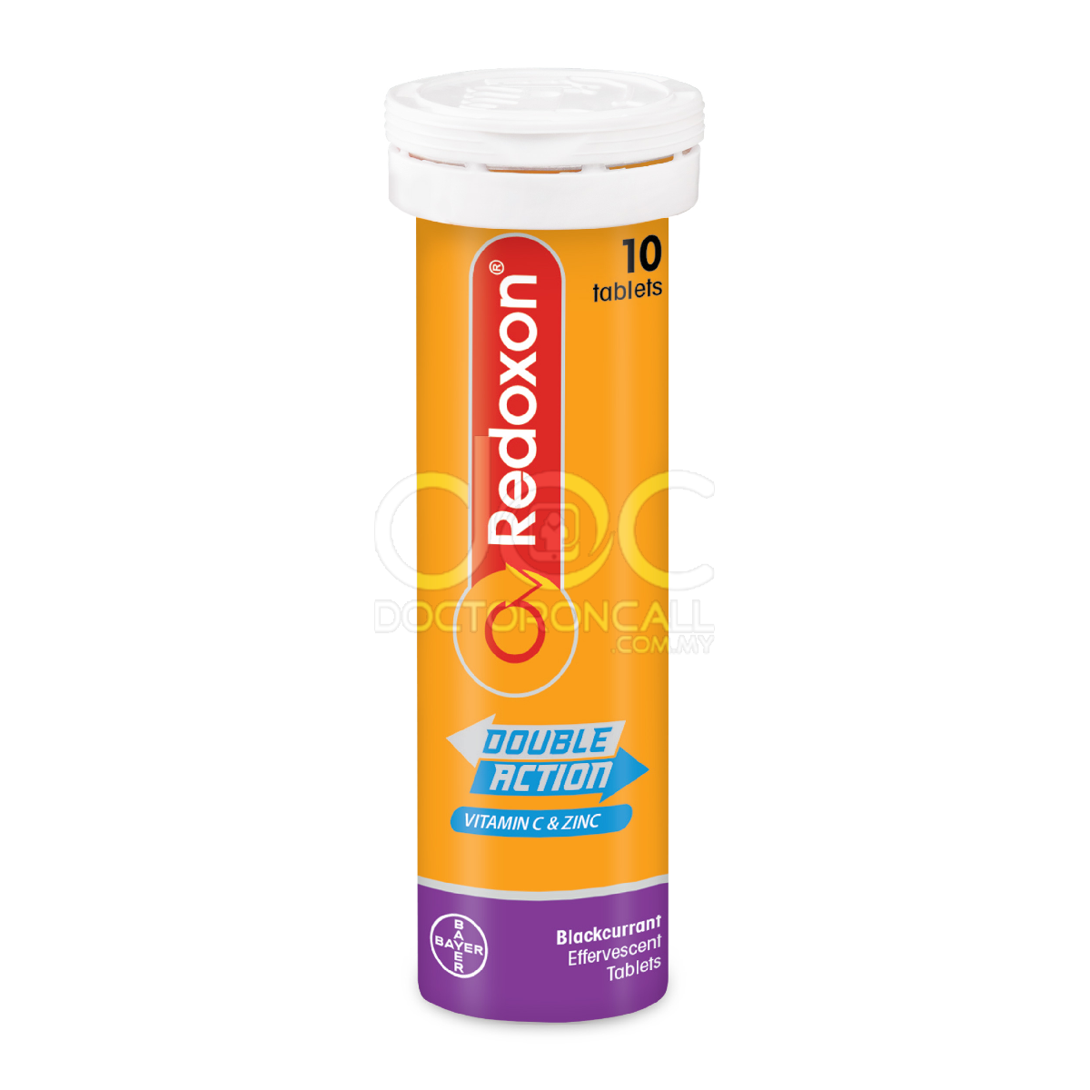 Redoxon Double Action Vitamin C+Zinc Effervescent Tablet (Blackcurrant), 10's - DoctorOnCall