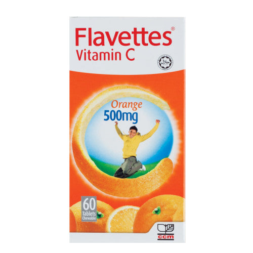 Flavettes Vitamin C 500mg Tablet Orange - DoctorOnCall