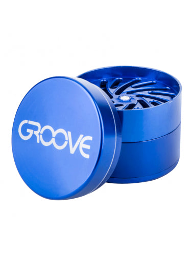 Groove 2 Inch 50mm 4 Piece CNC Grinder Aerospaced Herb Sifter