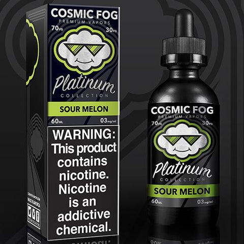 Sour Melon Cosmic Fog Platinum E Juice Premium E Liquid
