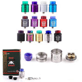 Hellvape Dead Rabbit 24mm RDA with Squonk Pin and Resin Drip Tip