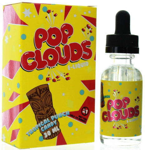 Pop Clouds Tropical Punch Candy E Liquid 30ml 60ml 120ml E Juice