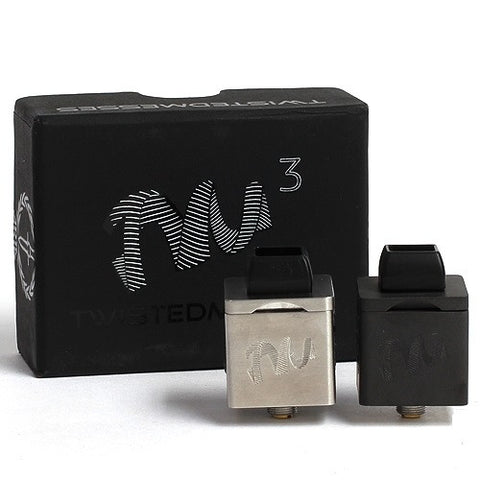 Twisted Messes Cubed RDA Atomizer Designed by Aria Build and Twisted Messes