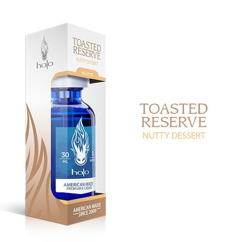 Toasted Reserve Nutty Dessert E Juice Liquid by Halo E Gigarettes