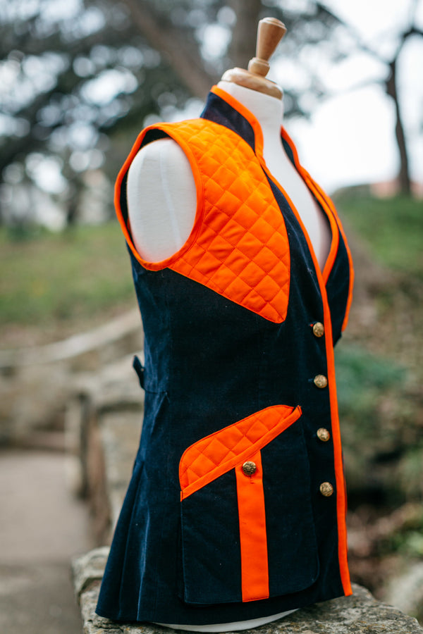 Navy Featherwale custom hunting vest