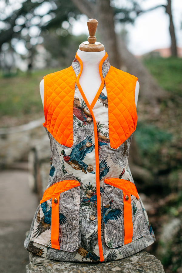 Girls Game Birds with Orange Trim - Upland Bespoke