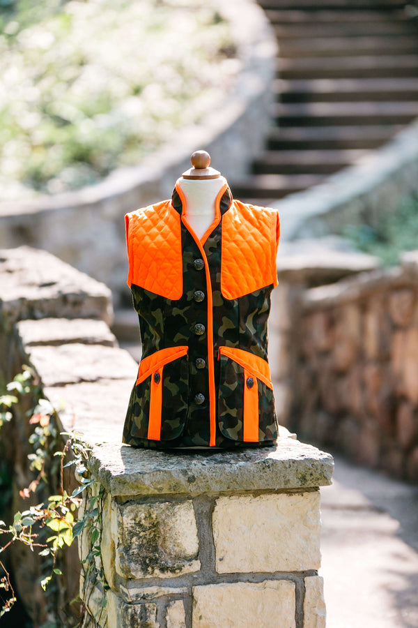 Girls Camo with Orange Trim