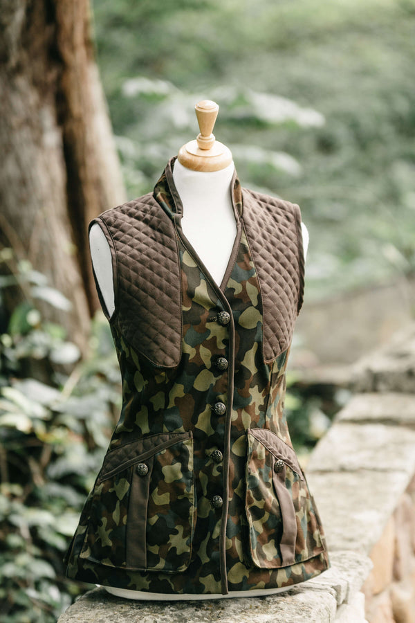 Girls Camo with Brown Trim