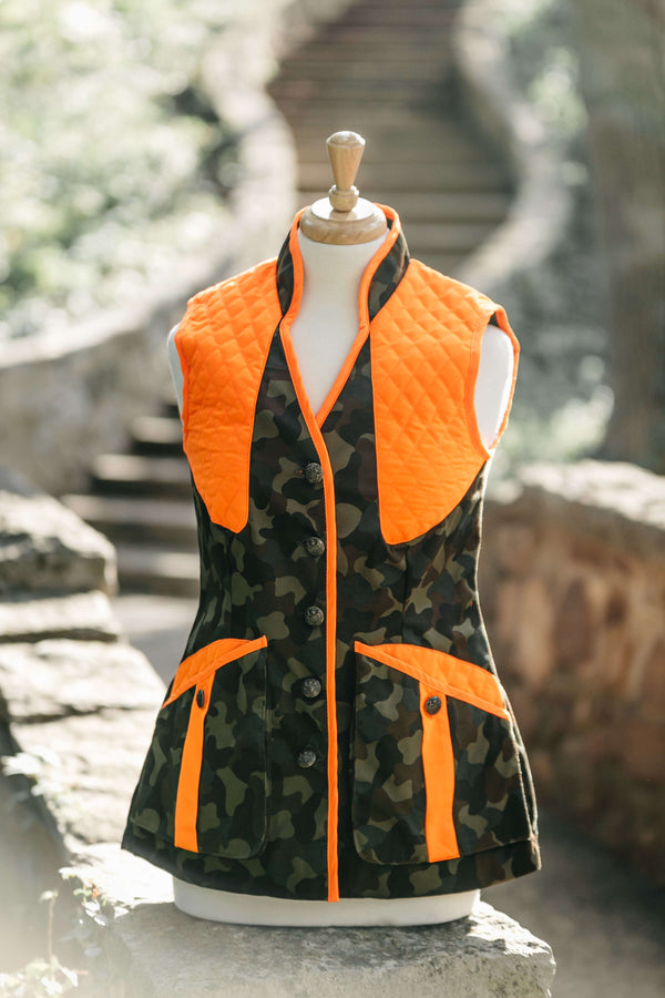 Camo with Orange Trim