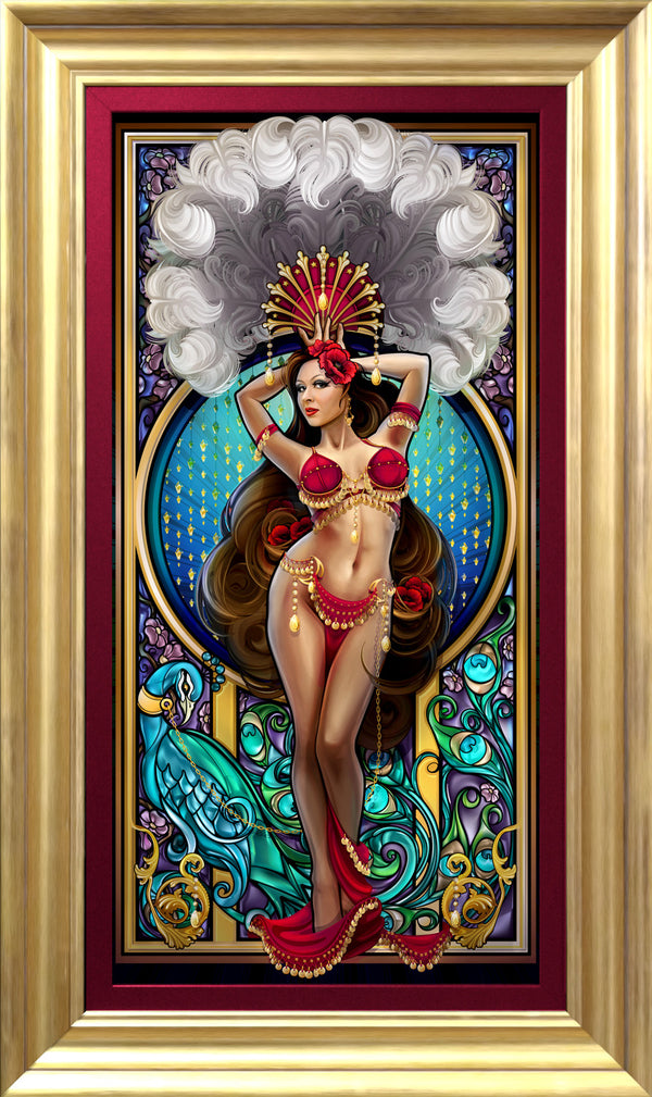"""Burlesque Belly Dancer"" Giclee"