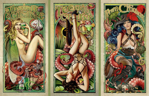 """Liquor Cthulhus"" (Set of 3 Prints)"