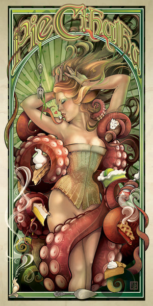 "Reward: ""Cthulhu Pinup"" Set of 10 Archival Prints"