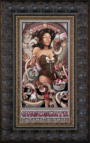 """Chocolate Ice Cream Cthulhu"" Giclee"