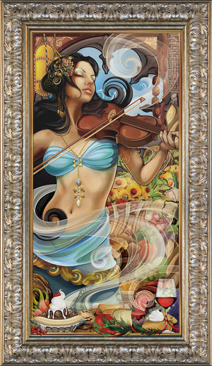 """Goddess of Fine Dining"" Giclee"