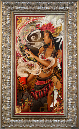"""Goddess of Coffee"" Giclee"