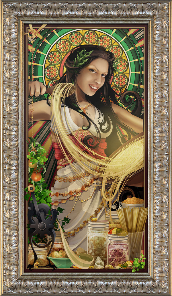 """Goddess of Pasta"" Giclee"