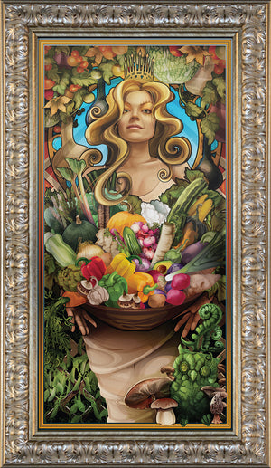 """Goddess of Vegetables"" Giclee"