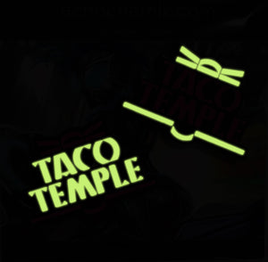 Taco Temple Glow-in-the-Dark Enamel Pins Shadowrun