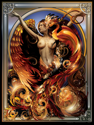 "Reward: ""Orange Phoenix Queen"" Giclee"