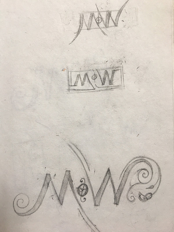 NOTW Ambigram #2 Name of the Wind Drawing