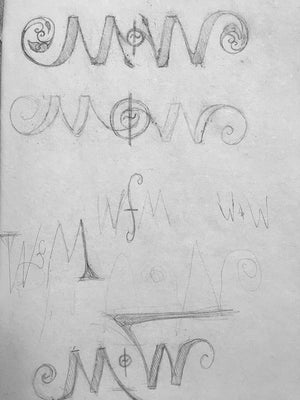 NOTW Ambigram #1 Name of the Wind Drawing