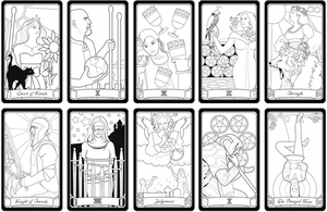 SPECIAL! Three (3) Color Your Own Tarot Decks