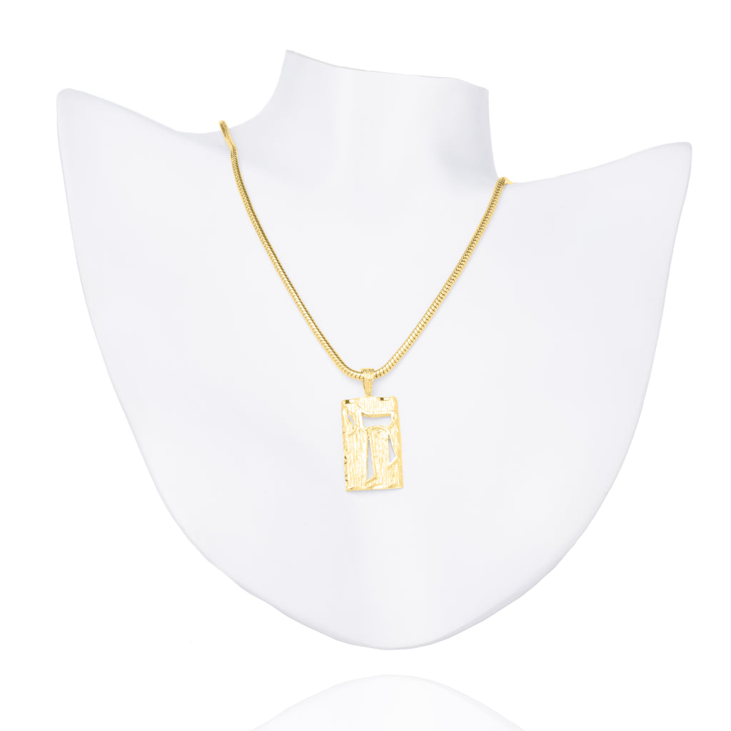 Chai Necklace - Yellow Gold