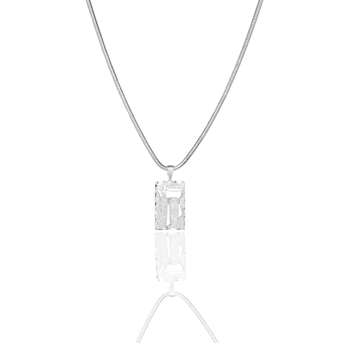 Chai Necklace - Silver