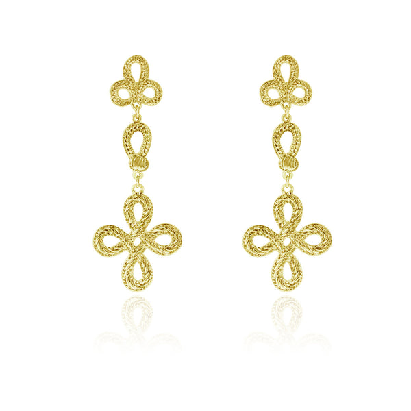 Paisley Earrings- Yellow Gold