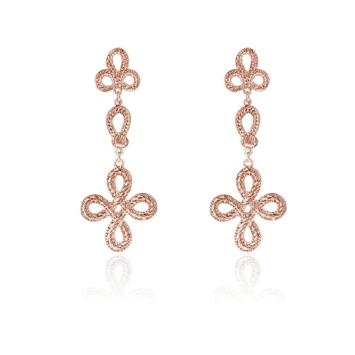 Paisley Earrings- Rose Gold