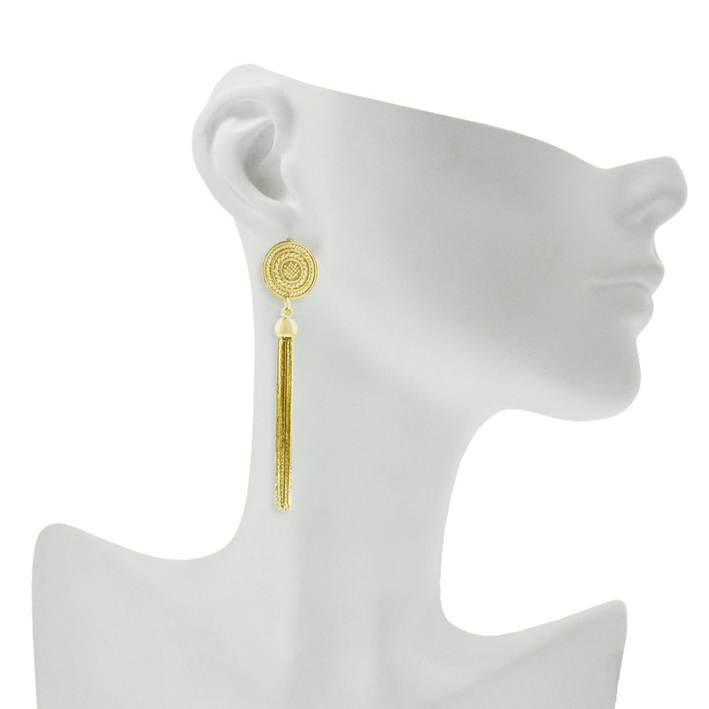 Inverness Earrings- Yellow Gold