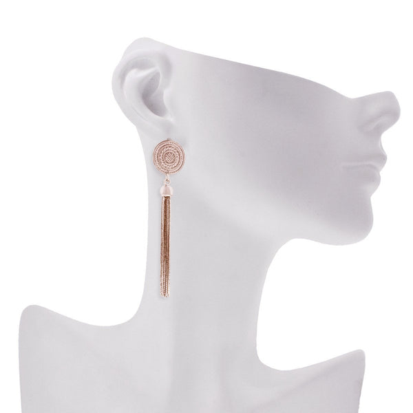 Inverness Earrings- Rose Gold
