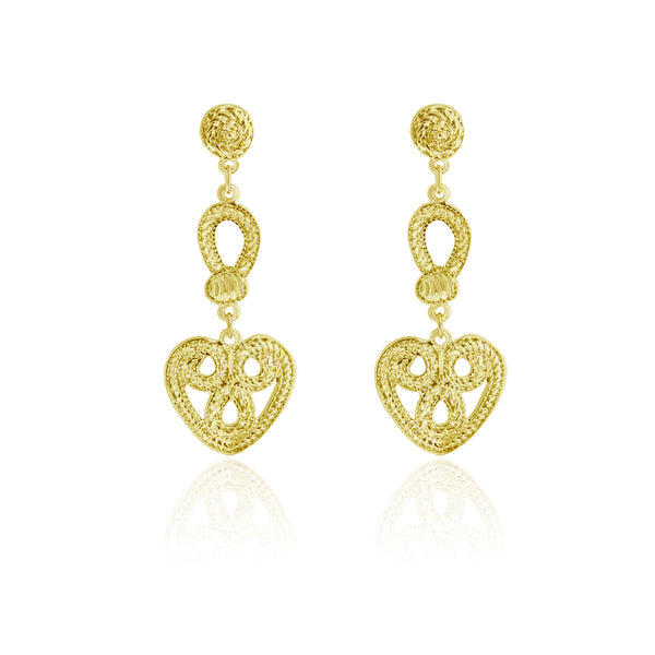 Edinburgh Earrings - Yellow Gold