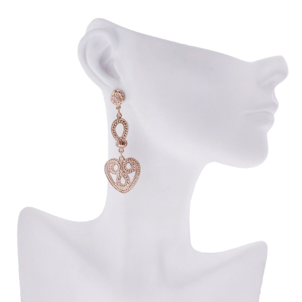Edinburgh Earrings - Rose Gold