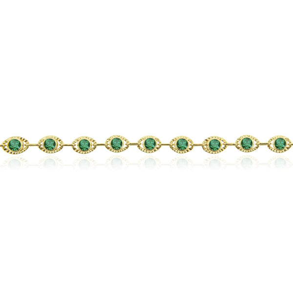 Marrakesh Bracelet Green/Gold