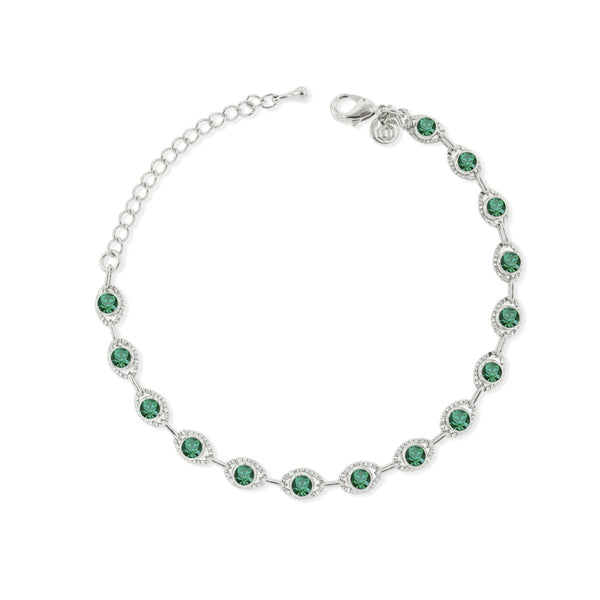 Marrakesh Bracelet- Green/Silver