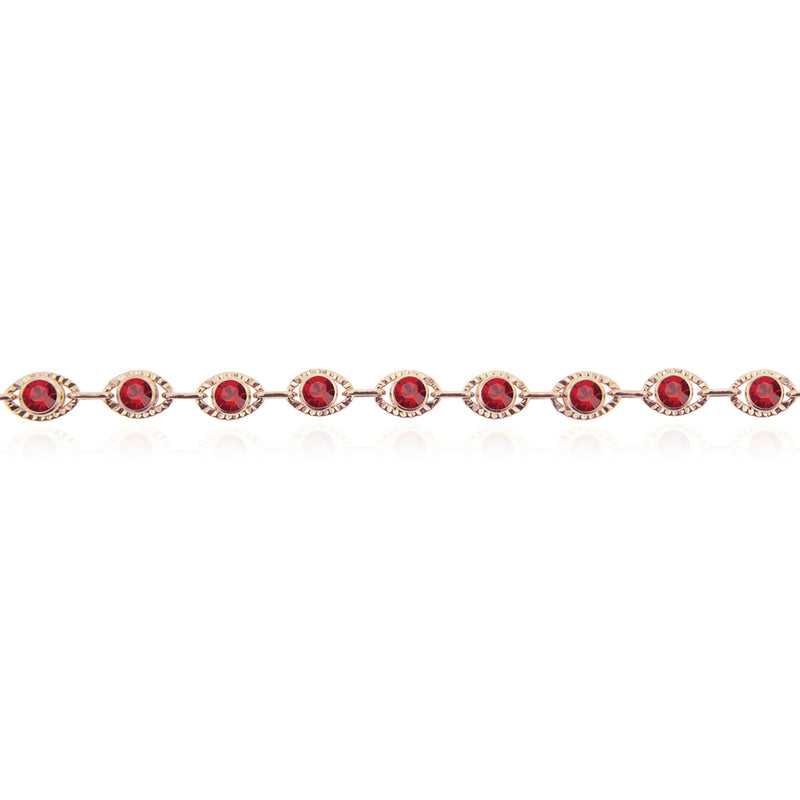 Marrakesh Bracelet- Red/Rose Gold