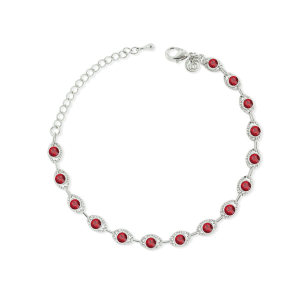 Marrakesh Bracelet- Red/Silver