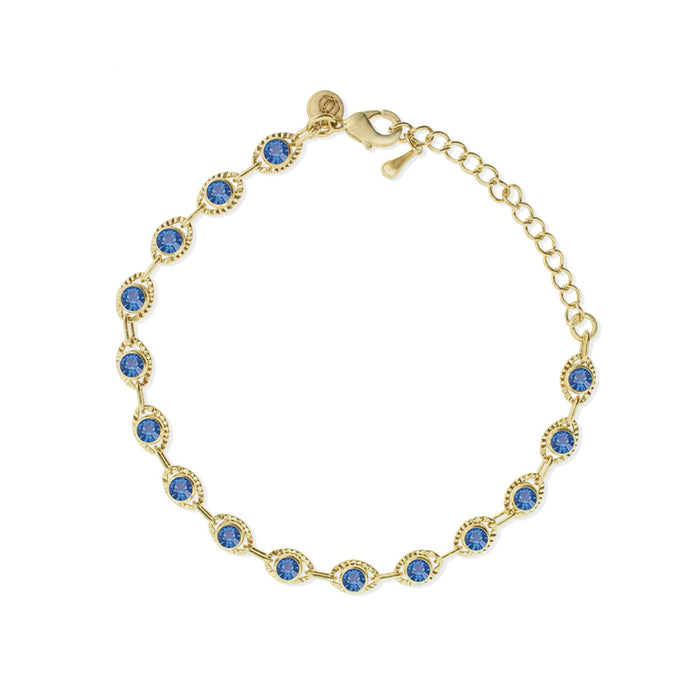 Marrakesh Bracelet- Blue/Yellow Gold