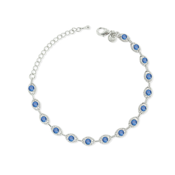 Marrakesh Bracelet- Blue/Silver