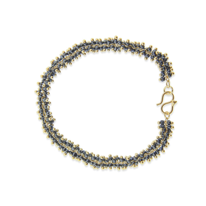 Lyon Bracelet - Black/Yellow Gold