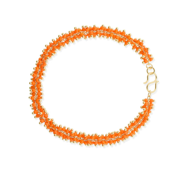 Lyon Bracelet- Orange/Yellow Gold